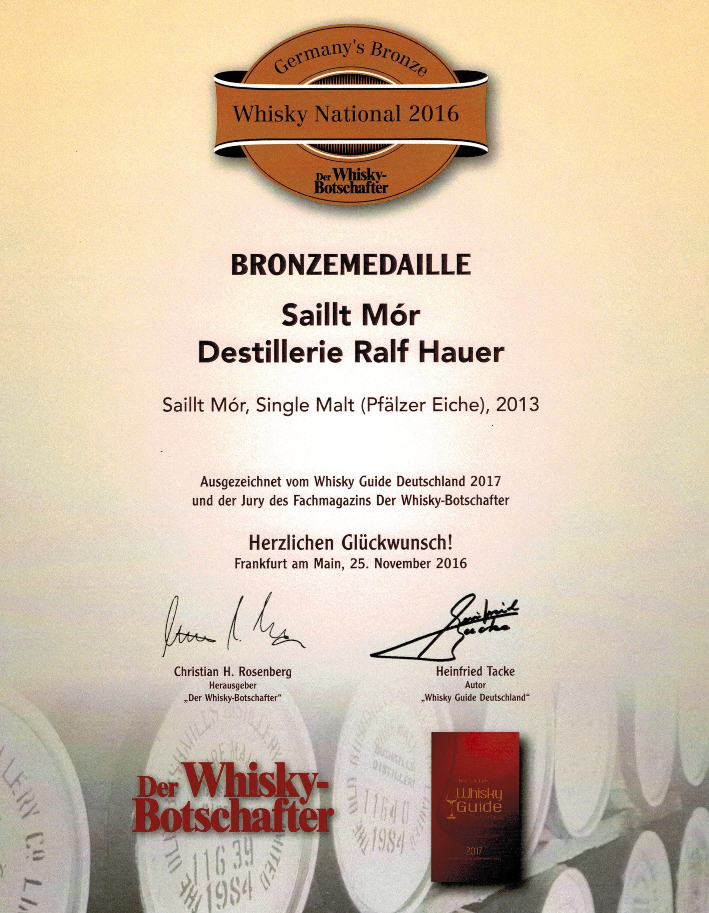 Bronzemedaille – Pfälzer Eiche 2013